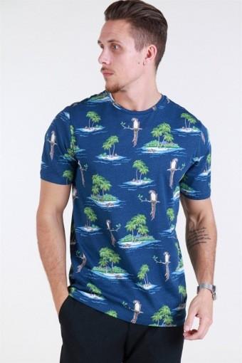 Leif SS AOP T-shirt Parrot