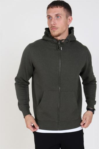 Organic Morgan Zip Sweat Ivy Green Mel