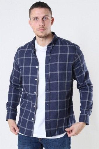 Clean Cut Sälen Flannel 1 Overhemd Navy
