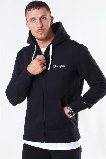 Hooded Full Zip Sweatshirt Black
