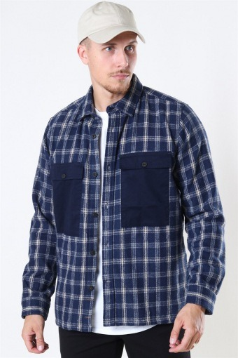 Oliver Check Overshirt Navy