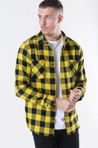TB297 Checked Flanell Overhemd Black/Honey