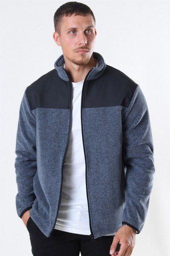 Fleece Zip Puller Jas Grey Melange