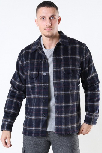 Glixto Check Overshirt Navy