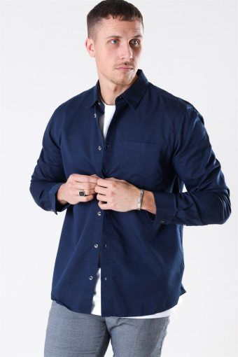 Michael Tencel Overhemd Dress Blues