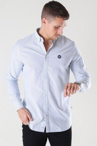 Johan Oxford Stripe Overhemd White / Light Blue