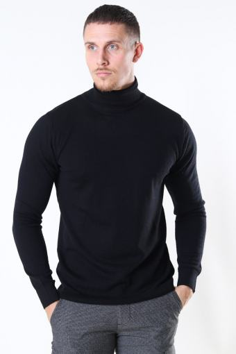 Merino Wool Roll Breien Black