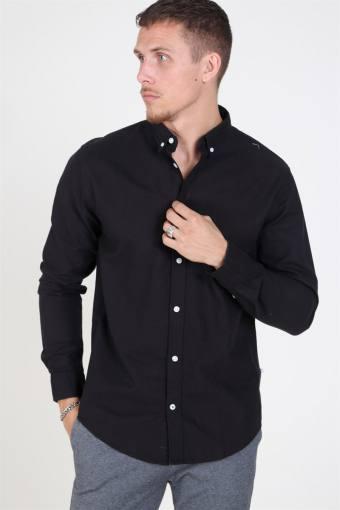 Johan Oxford Washed Overhemd Black