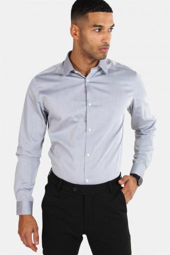 Non Iron Overhemd L/S Grey Melange