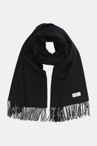 Solid Wool HalsSjaal Black