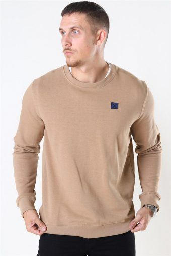 Clean Cut Basic Organic Crewneck Warm Sand