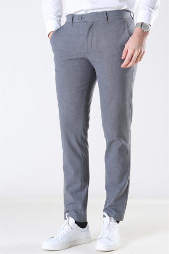 Slim-Carlo Flex StructKloke Pants Grey Melange
