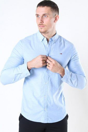 Tommy Jeans Slim Stretch Oxford Overhemd Perfume Blue