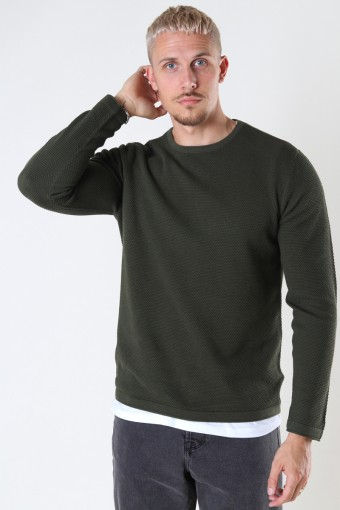ONSPANTER LIFE 12 STRUC CREW KNIT NOOS Forest Night