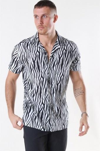 Jack & Jones Animal ViSchoense Skjorte S/S White