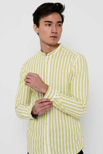 ONSMATTHEW LIFELS STRIPE MANDARINE SHIRT Antique Moss