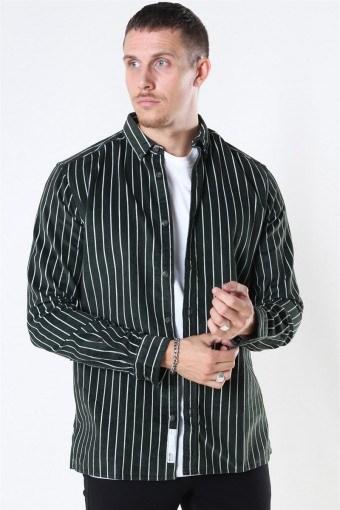 Edward Striped Corduroy Overhemd Deep Depths