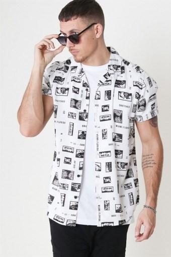 Oliver SS Printed Overhemd White