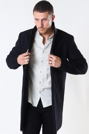 Moulder Wool Jas Black
