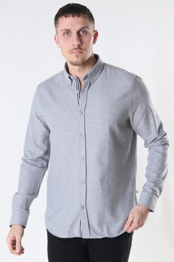 Johan Herringbone flannel shirt Sand