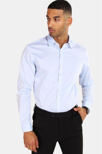 Non Iron Overhemd L/S Cashmere Blue