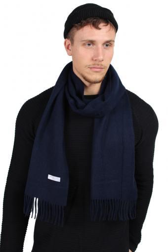 Tope Wool Sjaal Dark Navy