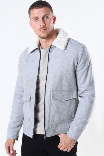 Linton Soft Jas Light Grey Mel