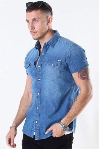 Jack & Jones Sheridan Overhemd S/S Medium Blue Denim