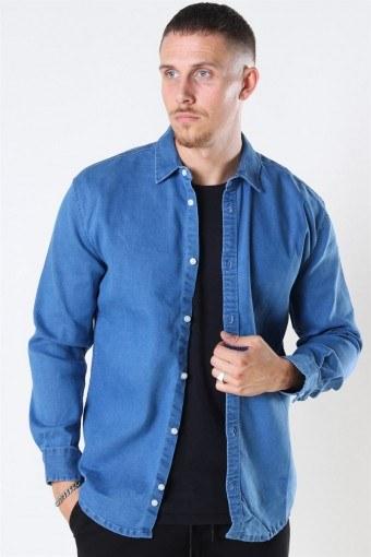 Lenny Denim Overhemd Light Blue