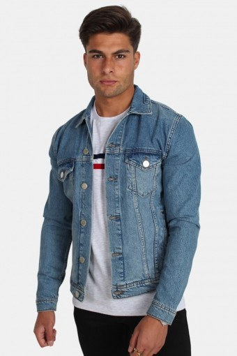 Dave Rigid Denim Jas Light Blue