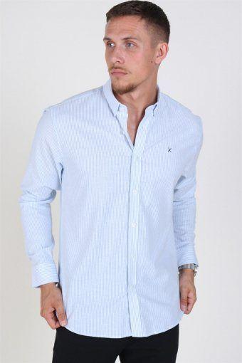 Clean Cut Oxford Stripe Overhemd Light Blue