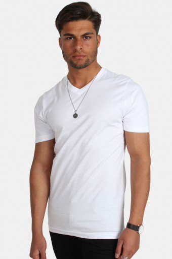 Uni Fashion V T-shirt Hvid