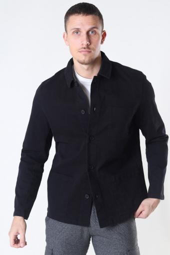 Clean Cut Lake Stretch Overhemd LS Black