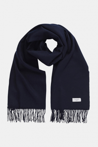 Solid Wool Sjaal Dark Navy
