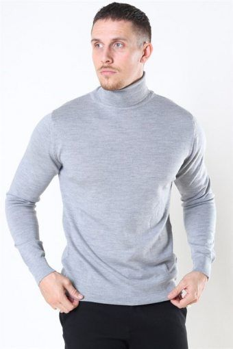 Merino Wool Roll Breien Light Grey Mel