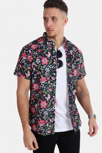 Johan Exotic S/S Overhemd Navy 11