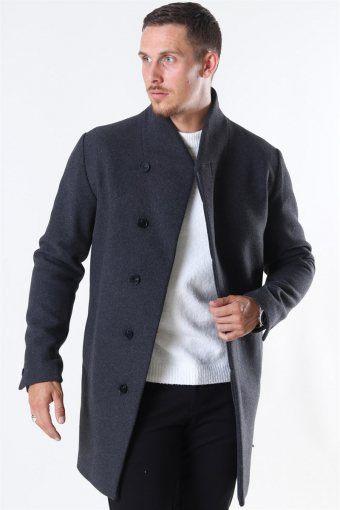 Collum Wool Coat Dark Grey