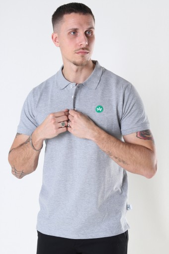 Albert Recycled cotton polo Twilight
