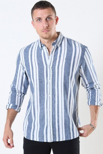 Clean Cut Sälen 146 LS Overhemd Blue/Off White