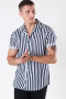 Only & Sons Wayne Striped Viscose Overhemd Dress Blues