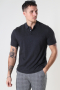 Selected SLHBERG SS POLO NECK B NOOS Antracit