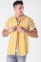 Only & Sons Wayne Striped Viscose Overhemd Golden Spice